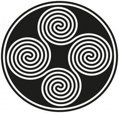 Connected Celtic Double Spirals
