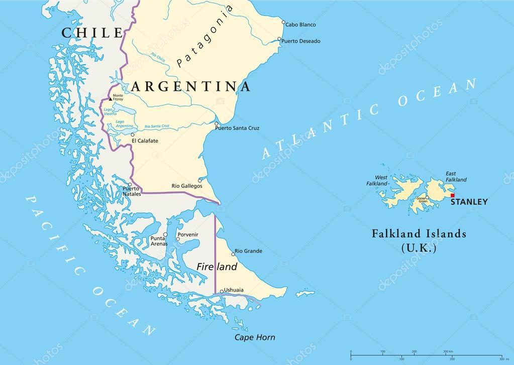 Falkland Islands Policikal Map — Stock Vector © Furian #47793975