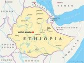 Fotografie Ethiopia Political Map