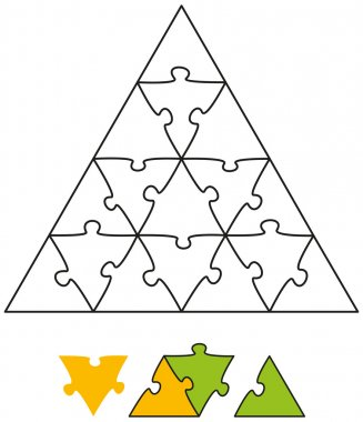 Jigsaw Puzzle Triangle