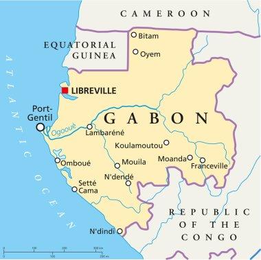 Gabon Political Map