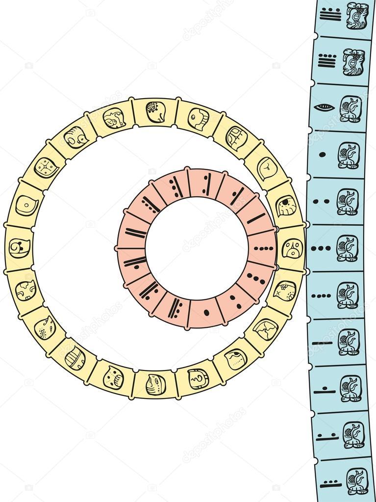 Il Calendario Maya.Calendario Maya 2d Vettoriali Stock C Furian 50976079