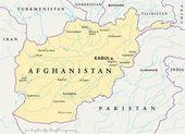 Fotografie Afghanistan Political Map