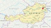 politická mapa Rakouska