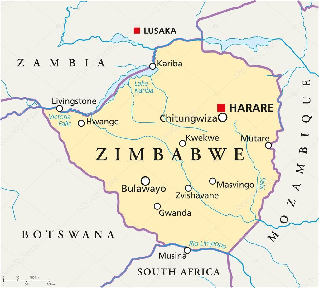 Resultado de imagen de MAPA DE ZIMBABUE