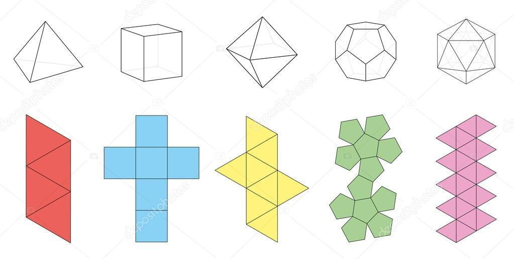 Platonic solids Stock Vectors, Royalty Free Platonic solids ...