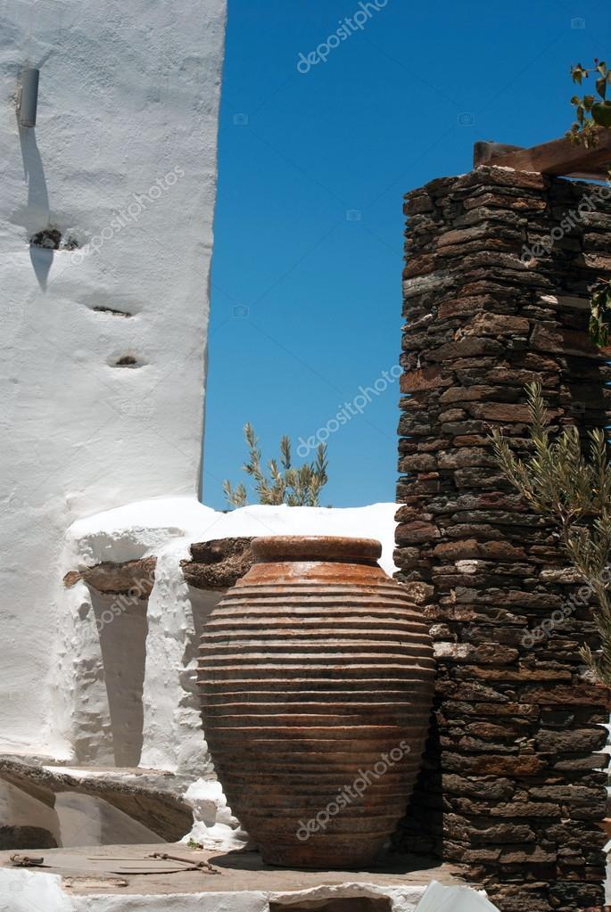 décoration grecque traditionnelle sur l\'île de sifnos, Grèce ...