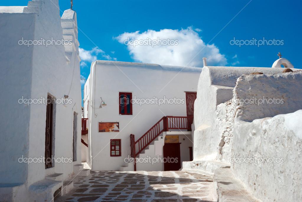 Antigua casa tradicional griega en la isla de mykonos Casas griegas antiguas