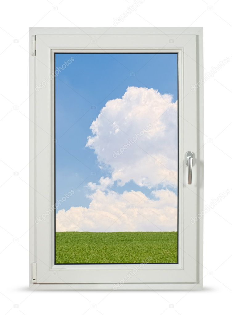 Pvc windows with clipping path