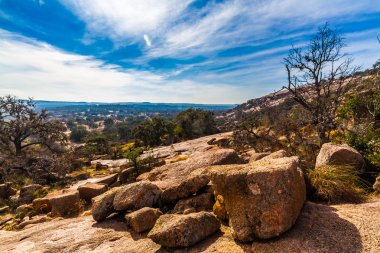 The Amazing Granite Stone Slabs and Boulders of Legendary Enchanted Rock, in the Texas Hill Country.