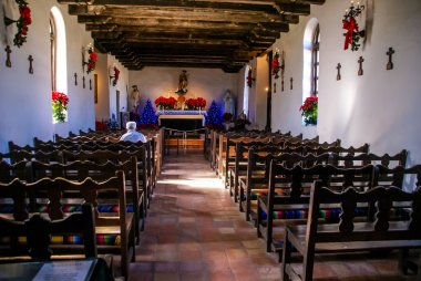 Introspection, Prayer, and Reflection in the Historic Old West Spanish Mission Espada, established in 1690, San Antonio, Texas