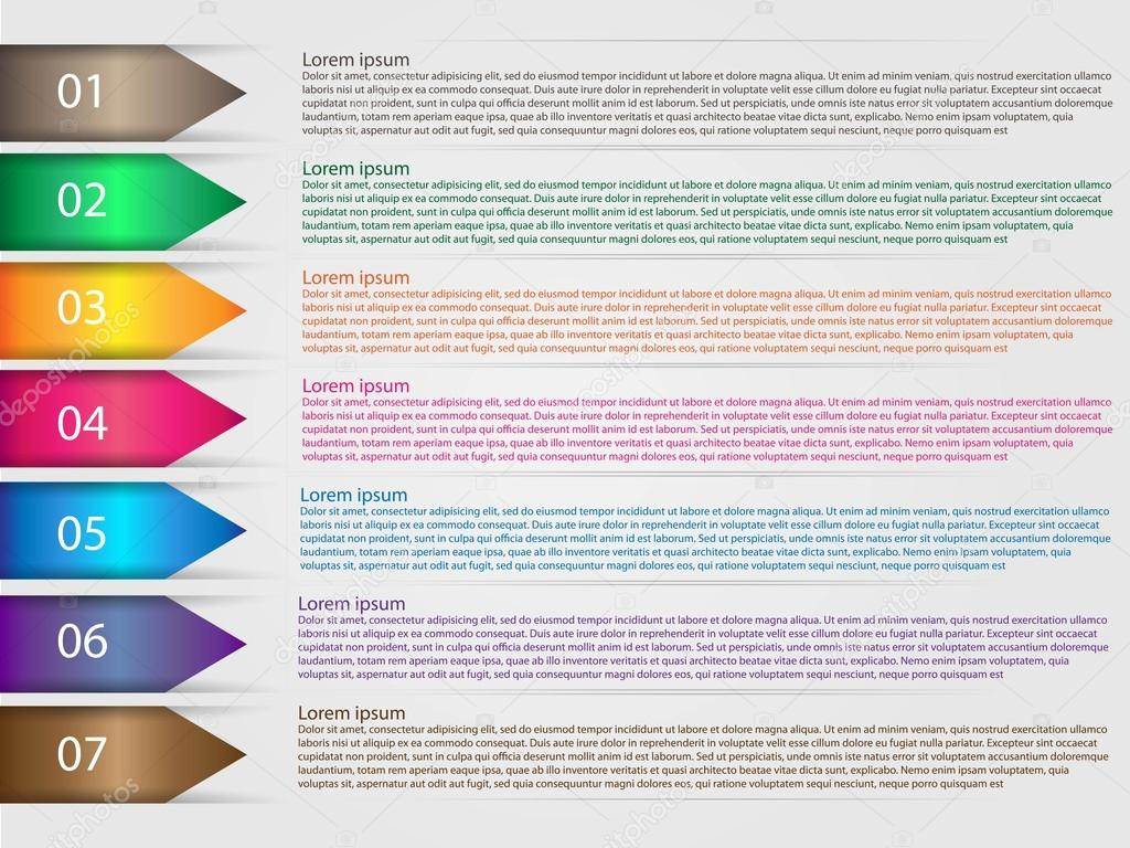 Options infographics template arrows