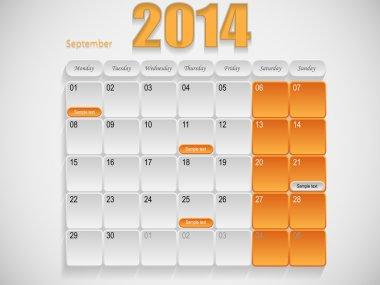 Calendar design September