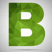 Mosaic letter B