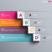 Abstraktní 3d papír infographic