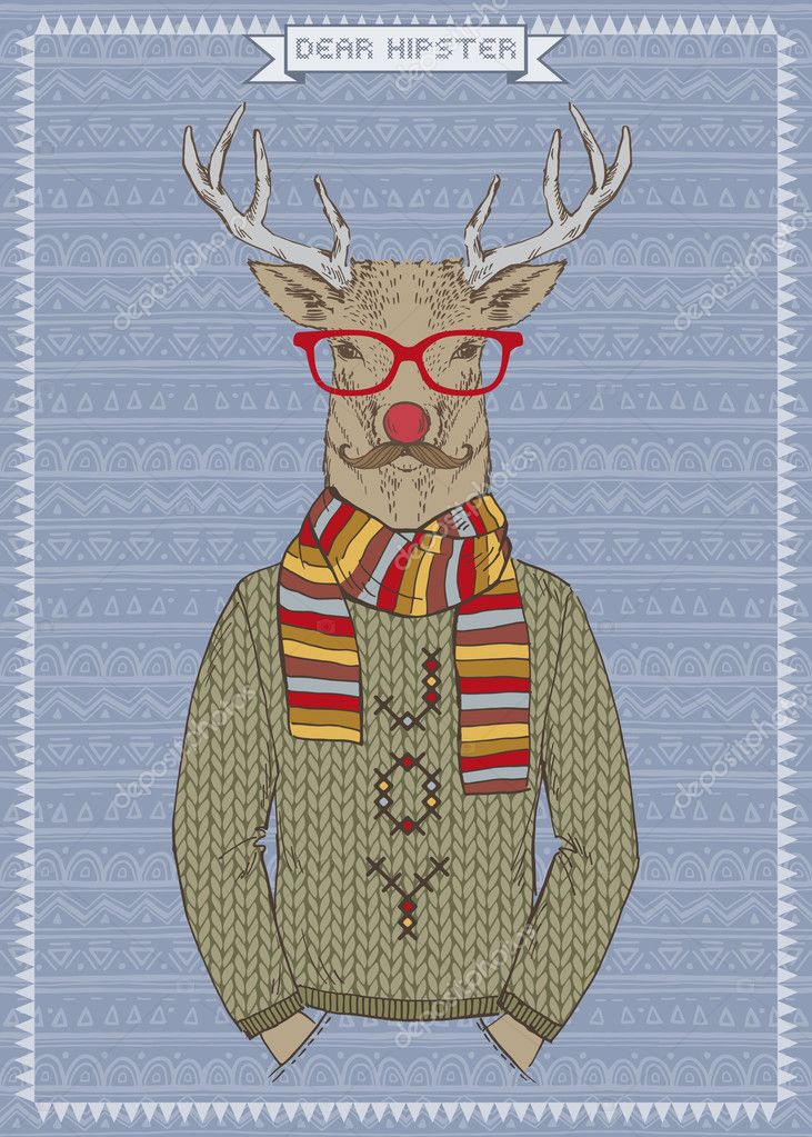 Illustration of Hipster Deer