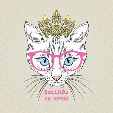 Portrait of cat girl princess