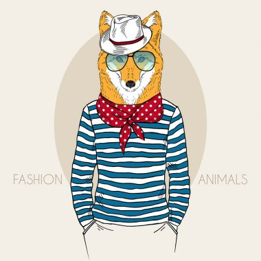 Fox Hipster in colors