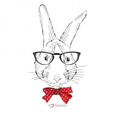 Bunny in tie bow