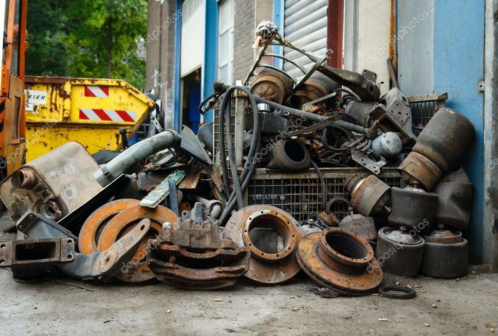 Scrap metal, old car parts — Stock Photo © Elilena #30610665