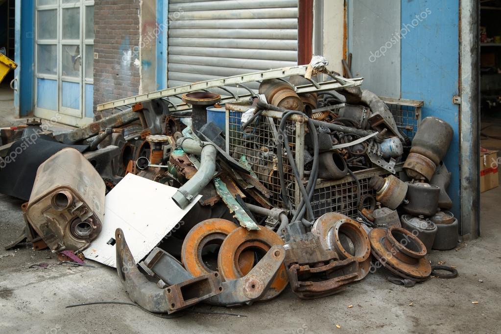 Scrap metal, old car parts — Stock Photo © Elilena #30610667