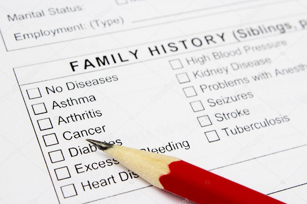 medical claim form and patient medical history questionnaire stock
