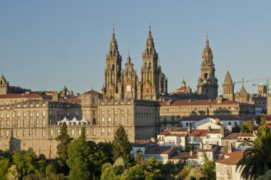 View on St. James Cathedral in Santiago de Compostela, Spain.