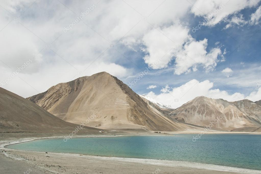 The Lake Pangong near Indian-Chinese border in Ladakh, India.