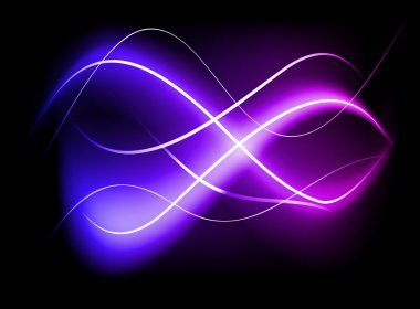 Blurry abstract purple light effect background