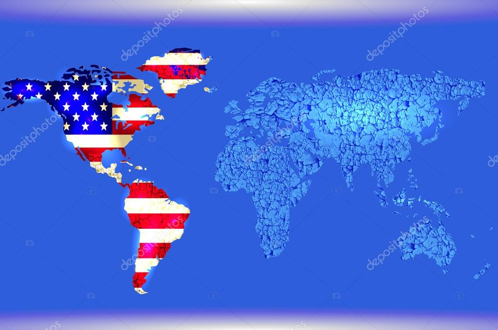 Blue world map abstract texture american flag stock vector blue illustrated world map abstract texture lines american flag vector eps10 vector by logvinyk gumiabroncs Images