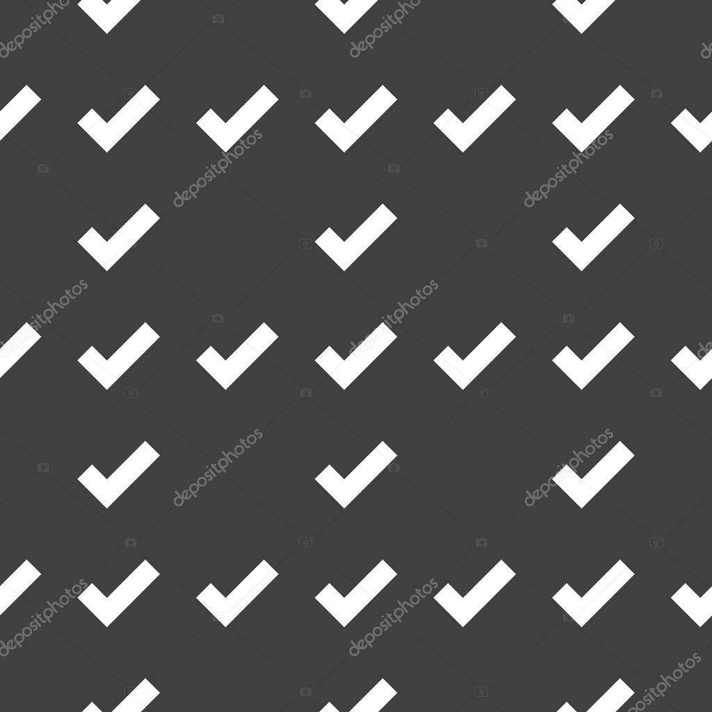 Icono Web Tick Diseño Plano Patrón Sin Costuras Vector De Stock