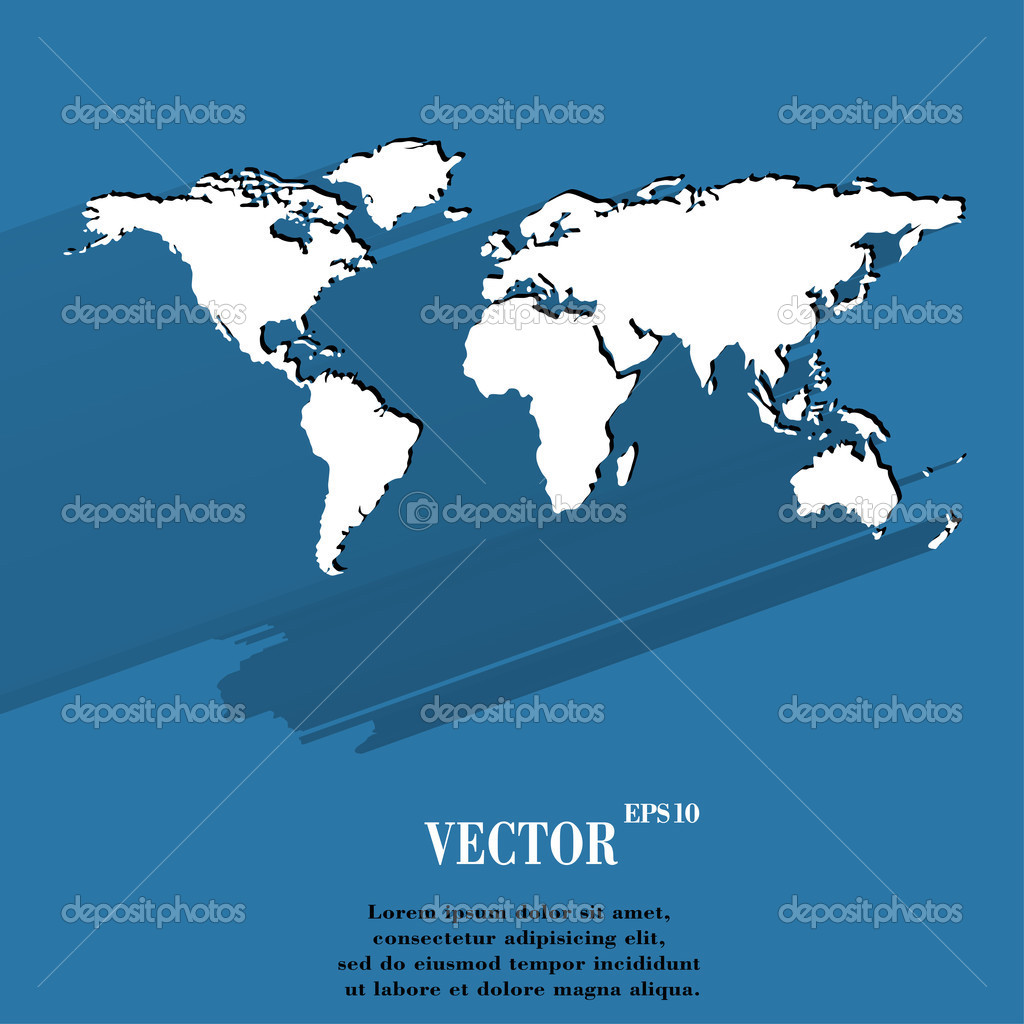 World map web icon flat design stock vector logvinyk 50292629 world map web icon flat design stock vector gumiabroncs Gallery