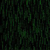 Fotografie tmavě zelená vzor bezešvé s binárního kódu