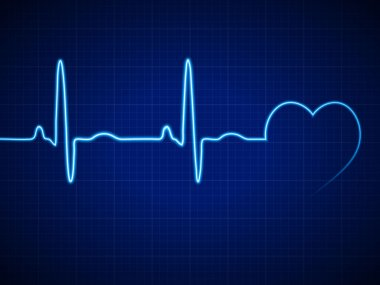 Vector Illustration heart rhythm ekg stock vector