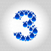 Photo Alphabet made of water droplets. Numbers