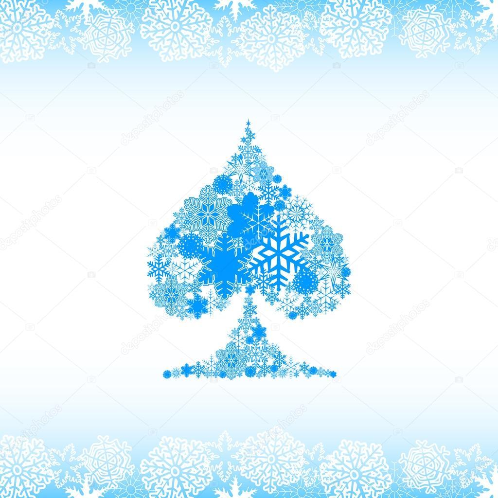 Snow alphabet. Symbols of the snow
