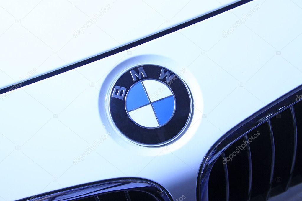 BMW motor car brand in a car sales shop, Tangshan, China