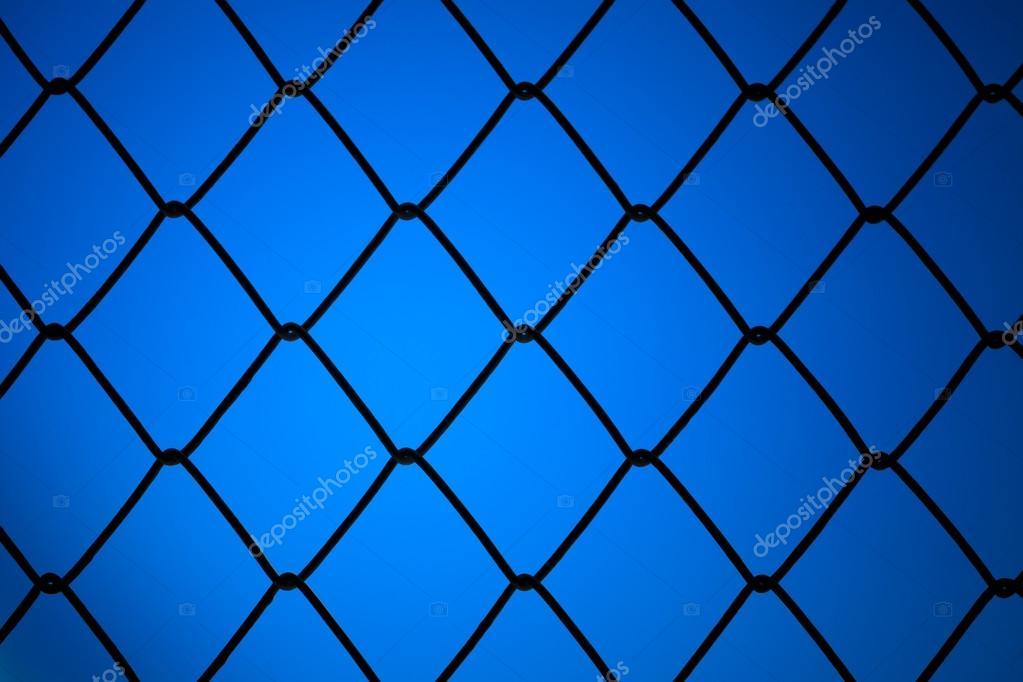 Net Con Sfondo Blu Metallizzato Foto Stock Sripfoto 48396515