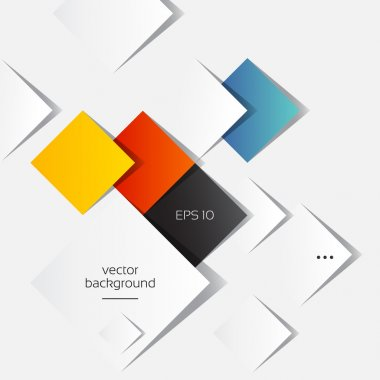 Colorful Square blank background - Vector Design Concept, Ideas