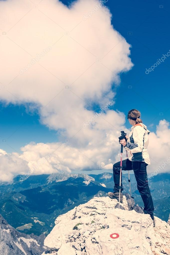Young woman watching a spectacular view
