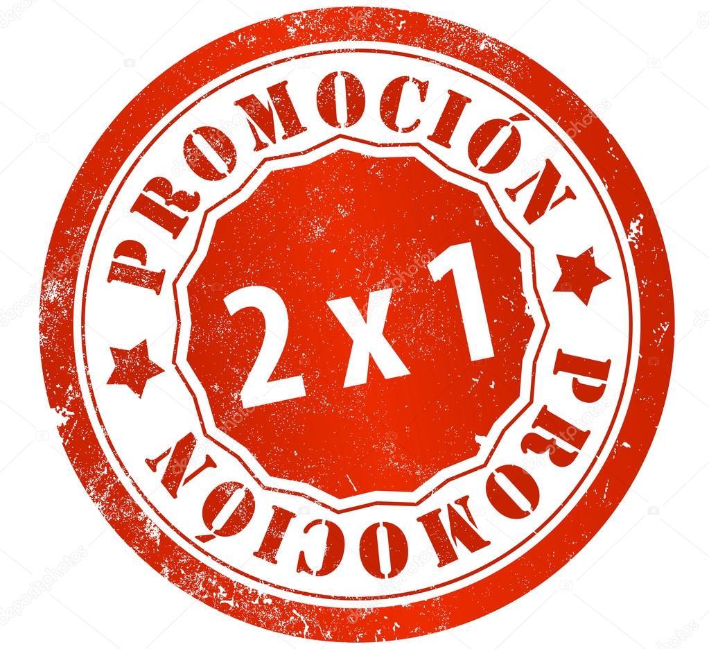 Sello de grunge promoción 2 x 1 en Español - imágenes  promocion 2x1 — Foto  de pepj — Foto de pepj e6bdaa989121b