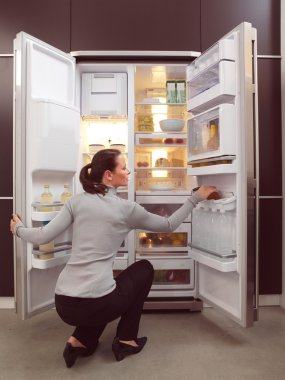 woman looking for something to eat