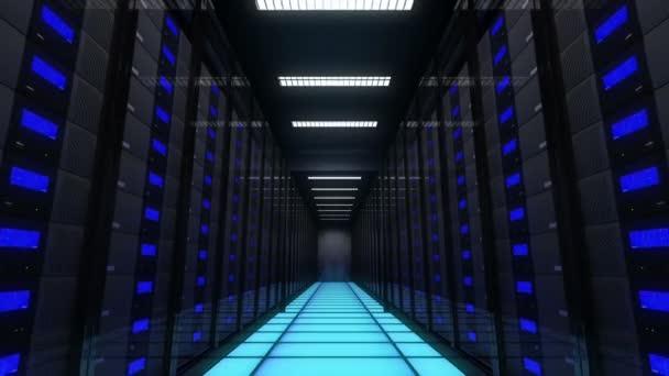 Computerserver in einem Rechenzentrum. Endlos wiederholbar