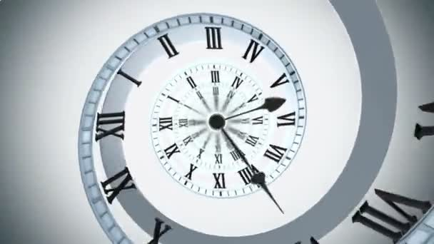Looping Spiral clock Looping animation