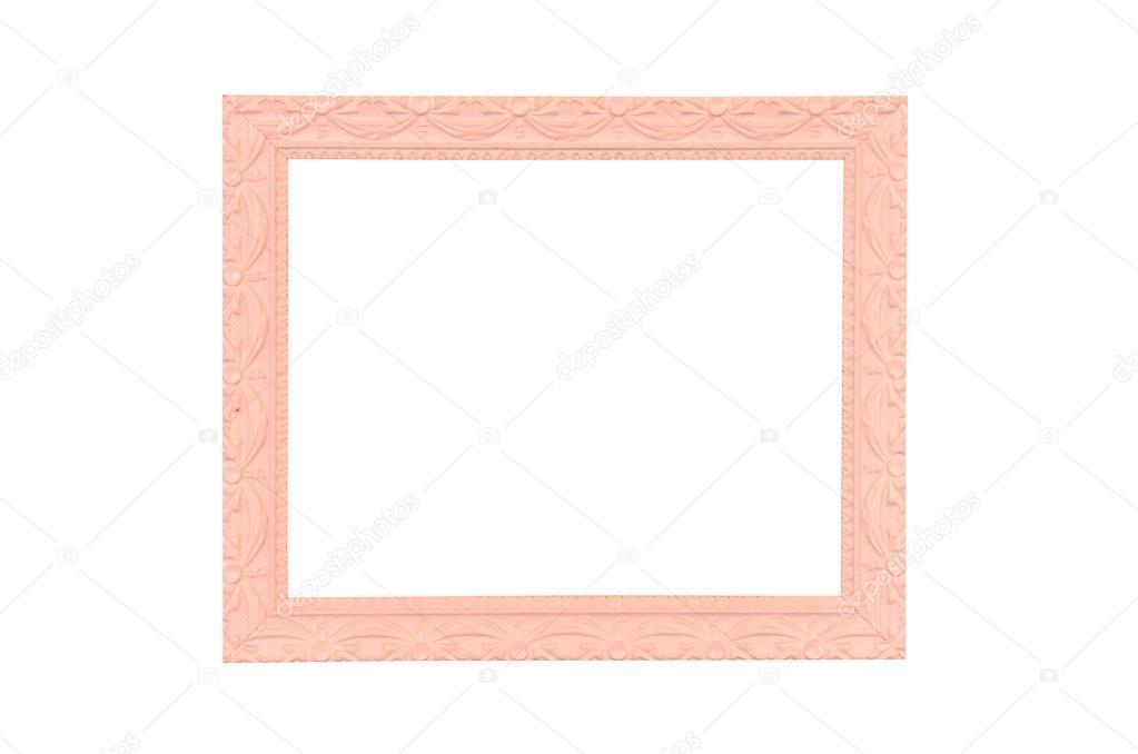 Vintage Rosa Bilderrahmen, isoliert auf weiss — Stockfoto ...