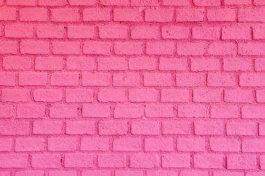 Pink Brick wall stock vector