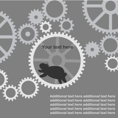 The background - hamster works in the mechanism