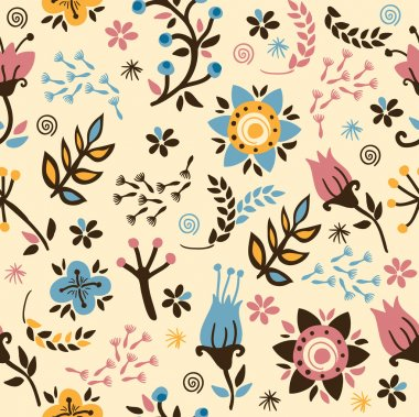 Floral seamless pattern.Gentle background.