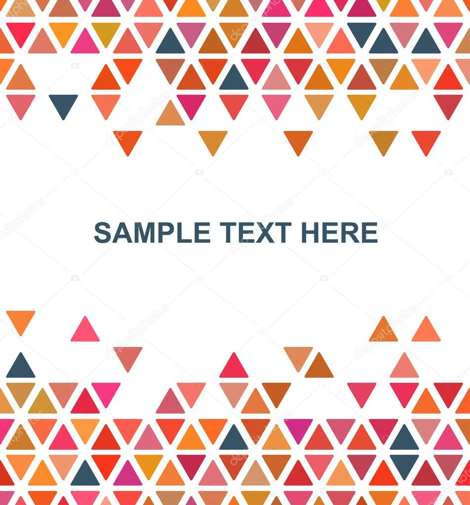 Colorful texture in hipster style. Geometry template