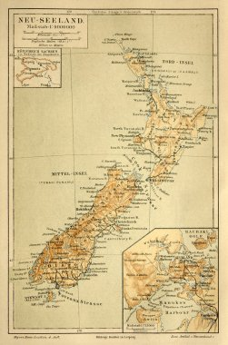 Old map of the New Zealand